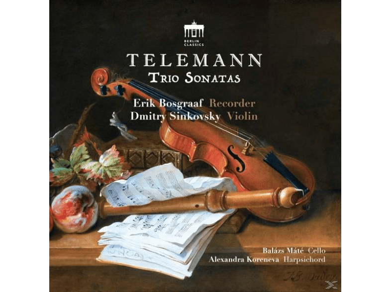 Dmitry-Sinkovsky--Erik-Bosgraaf---Telemann-Trio-Sonatas-[CD]